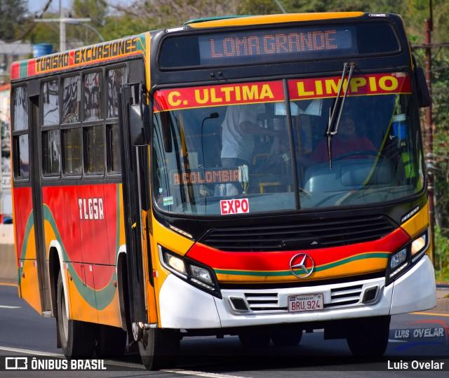 Ônibus da empresa Transporte LomaGrandense, modelo Caio Apache Vip I, reformado com frente de Apache Vip IV. Foto de Luis Ovelar.
