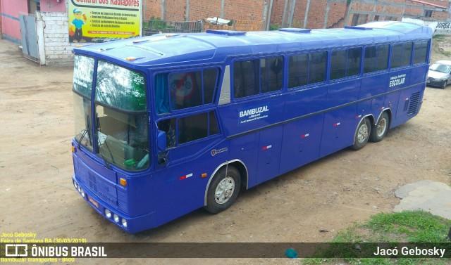 Registro do mesmo Diplomata 380, agora nas cores da empresa Bambuzal Transportes, de Santo Amaro - BA.
