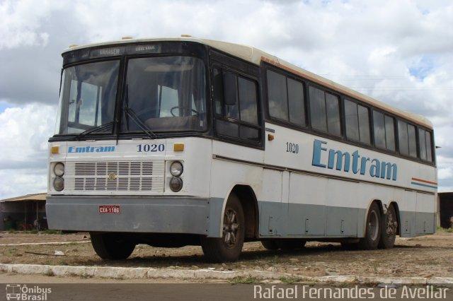 Entram 1020, Nielson Diplomata 2.60, Scania B111, fotografado por Rafael Fernandes de Avellar.