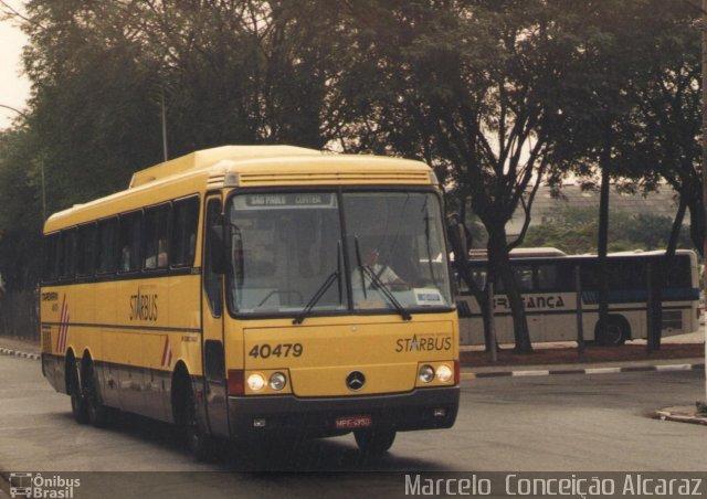 Monobloco Mercedes-Benz O-400RSD, prefixo 40479 da Viação Itapemirim. Posteriormente, tornou-se o Expresso Kaiowa 4001. Foto: Marcelo Conceição Alcaraz.
