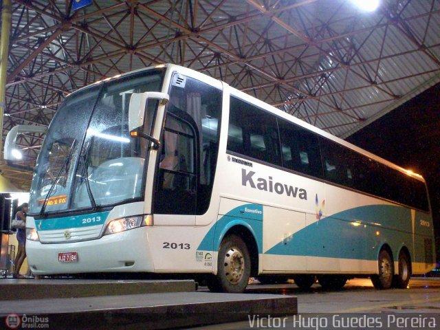 Busscar Vissta Buss HI da primeira leva de ônibus zero quilômetro recebidos pela Kaiowa. Foto: Victor Hugo Guedes Pereira (in memorian).