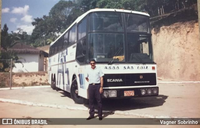 Ônibus Nielson Diplomata 380, sobre chassi Scania K112CL, da Empresa de Transportes São Luiz, na foto de Vagner Sobrinho.