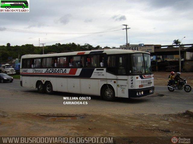 Trans Acreana 3440. Nielson Diplomata sobre chassi Volvo B10M, registrado por Willian Couto em Cariacica - ES.