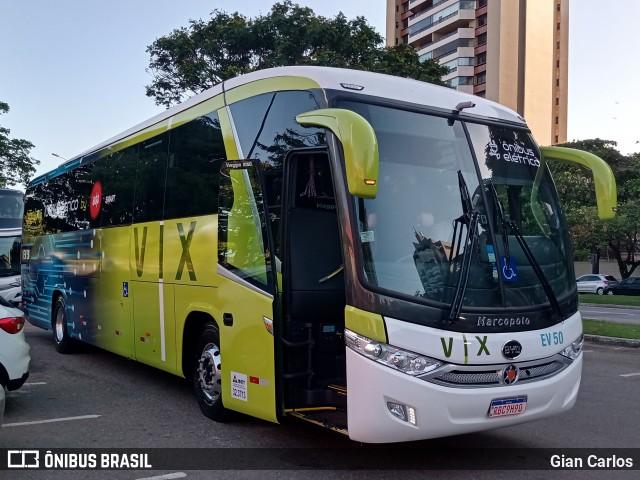Ônibus rodoviário elétrico BYD D9F em testes na VIX. Foto: Gian Carlos.