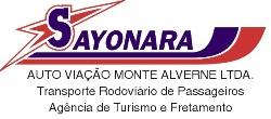 logo logotipo Sayonara - Auto Viação Monte Alverne